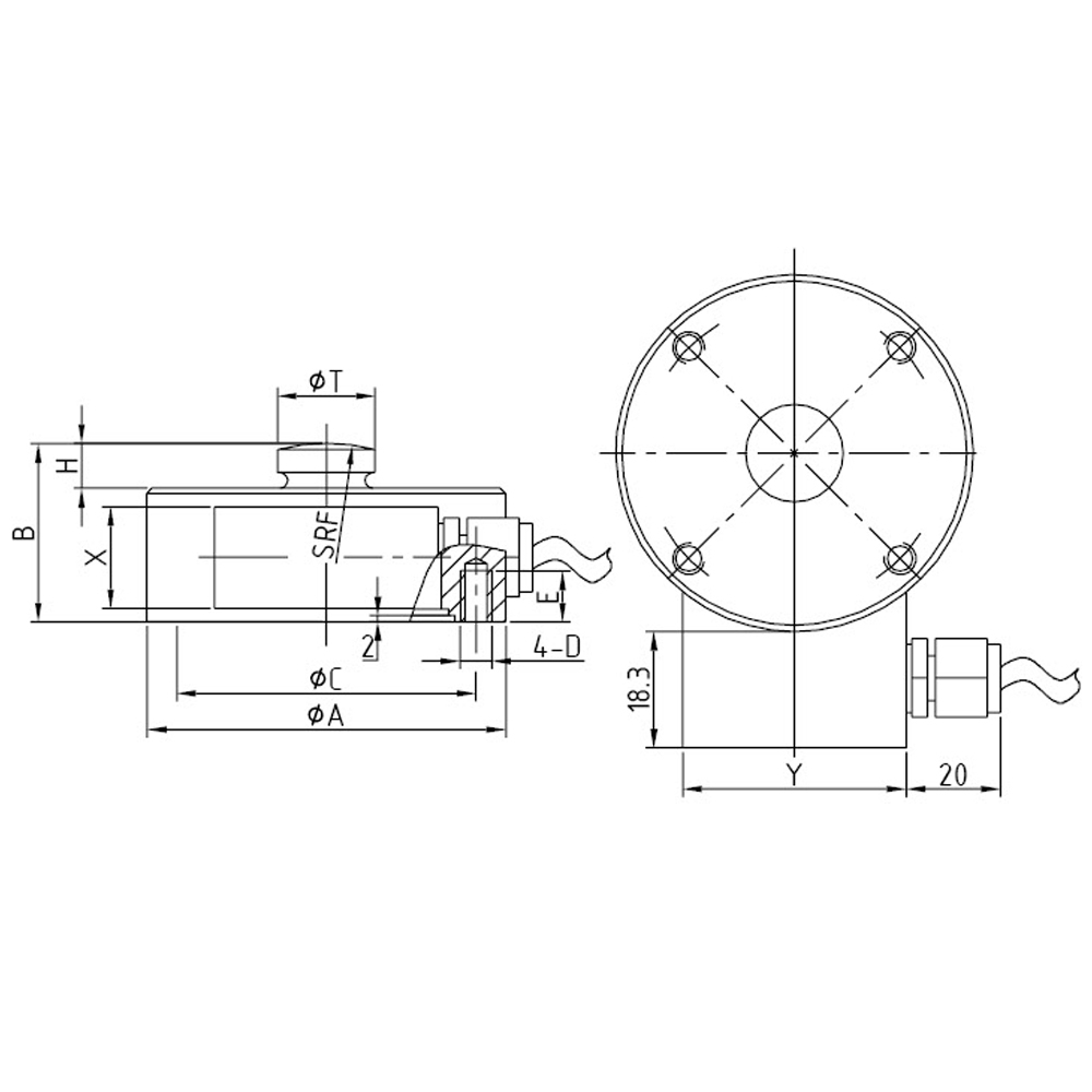 OS-204 Compression Load Cell