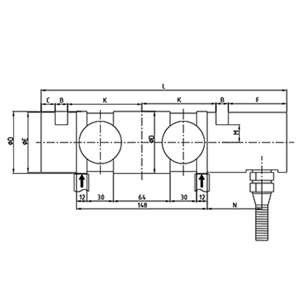 OS-804 Double Ended Shear Beam Load Cell